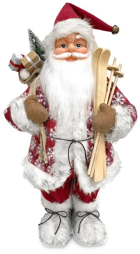 Dekorácia MagicHome Vianoce, Santa stojaci, červený, 46 cm