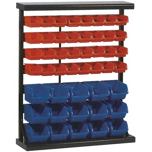 Stojan s plastovými boxmi HL3202, 47 zásobníkov, 94x30x115 cm
