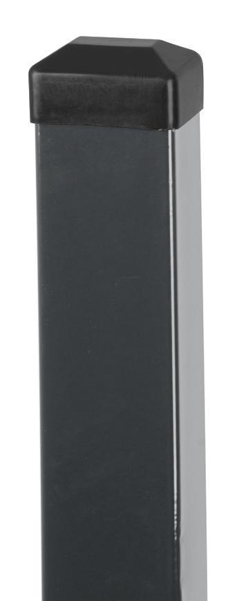Stlpik EUROSTANDARD 2600/60x40/1,50 mm, antracit, RAL7016  Zn+PVC, čiapočka