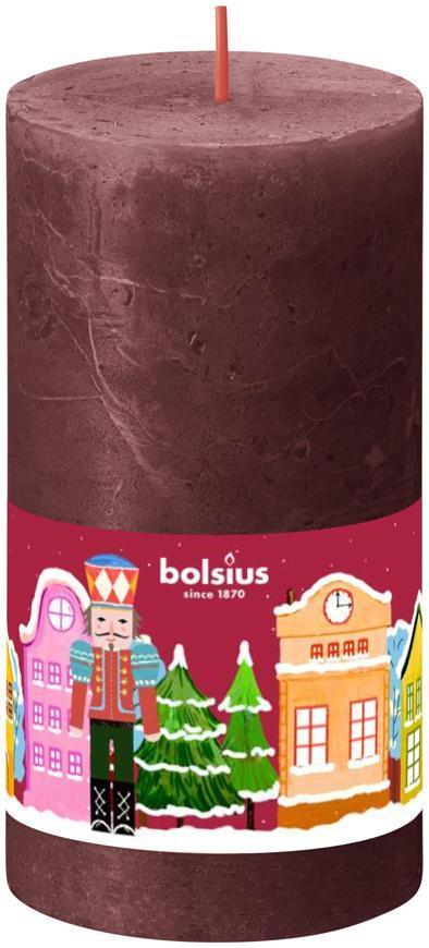 Sviečka Bolsius Luskáčik, valec, vianočná, 54 hod., 68x130 mm