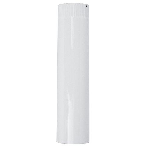 Rura Smalt 0500 mm, biela, smaltovaná, 120 mm