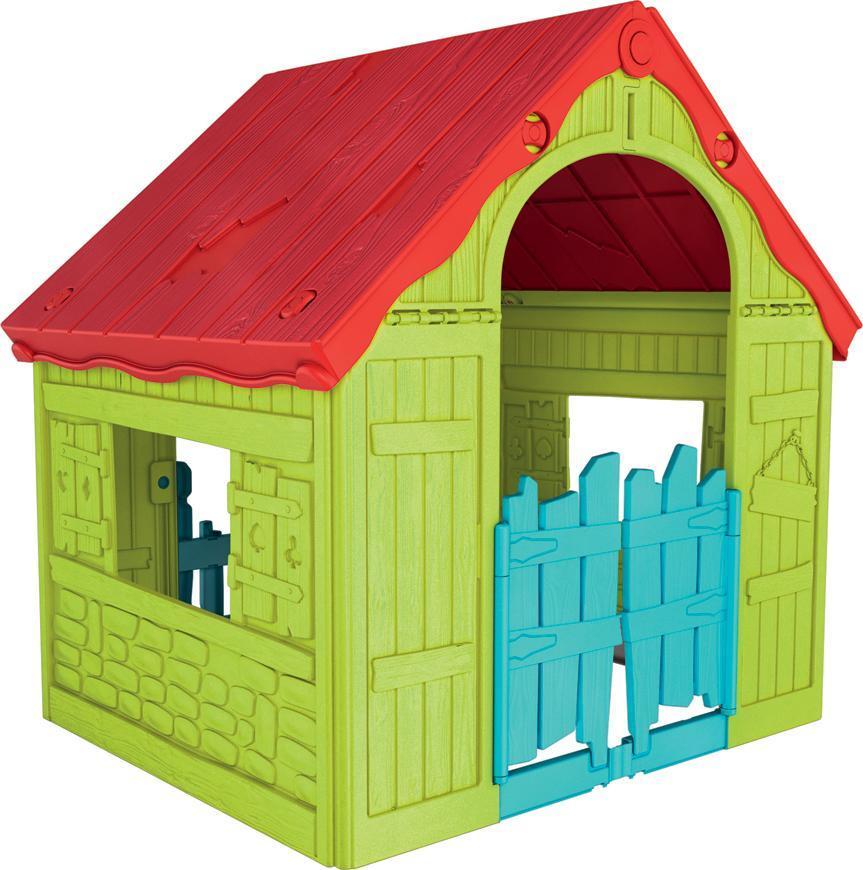 Domček Keter® WONDERFOLD, červená/zelená/modrá, detský