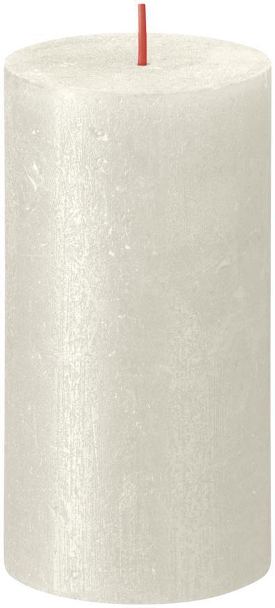 Sviečka Bolsius Rustik Shimmer, valec, krémová, 60 hod., 68x130 mm