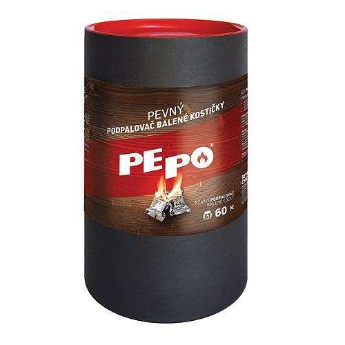 Podpaľovač PE-PO®, pevný, 60 podpaľov, kocky
