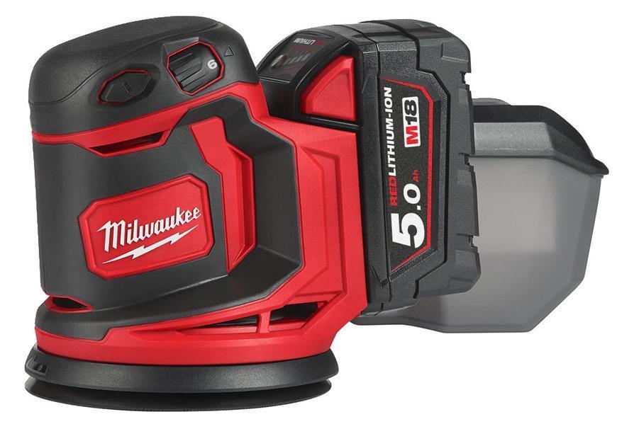 Bruska Milwaukee® M18 BOS125-0, 2x5.0Ah, 125 mm, excentrická