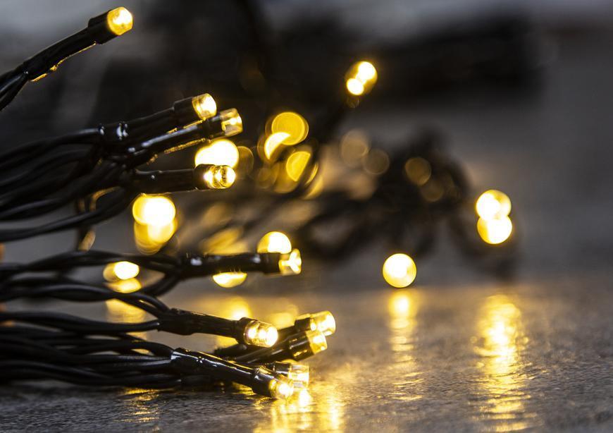 Retaz MagicHome Ceibo, 48L LED teplá biela, 3xAA, časovač, exteriér