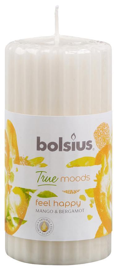 Sviecka bolsius Pillar True Moods 120/60 mm, Feel happy (mango a bergamot)