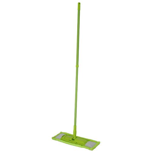 Mop Cleonix Microfiber, s palicou, zelený