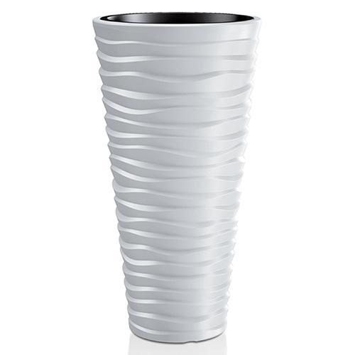 Kvetináč SAND Slim 400, 390x750 mm, šedá, vložka