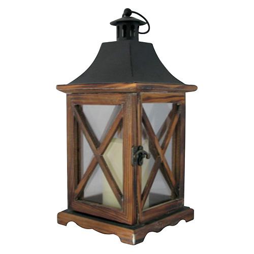 Lampas MagicHome WL8834, 16x16x35 cm, LED, 3xAAA, drevo