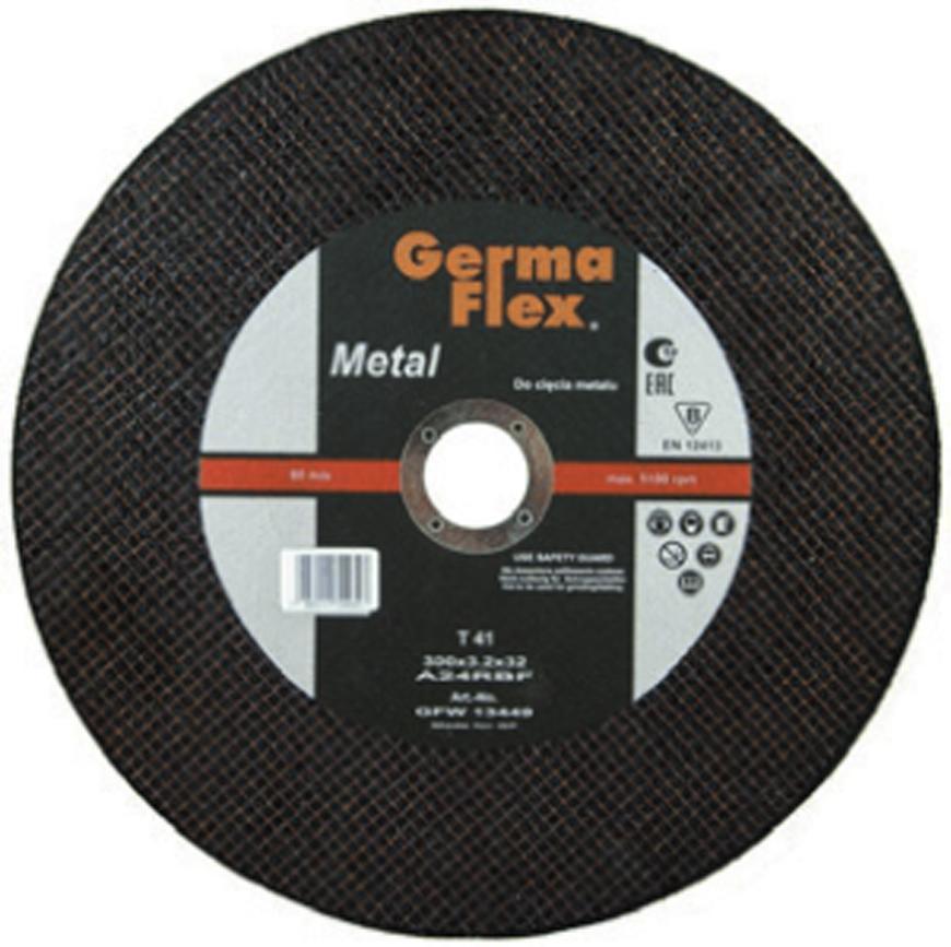 Kotuc GermaFlex Metal/Inox T41 300x3,0x32.0 mm, A30S Inox BF, ocel/nerez