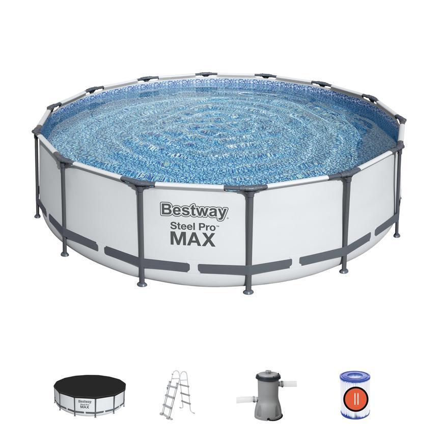 Bazén Bestway® Steel Pro MAX, 56950, filter, pumpa, rebrík, plachta, 4,27x1,07 m