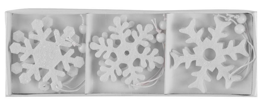 Ozdoba MagicHome Vianoce Woodeco, 3 druhy, bal. 6 ks