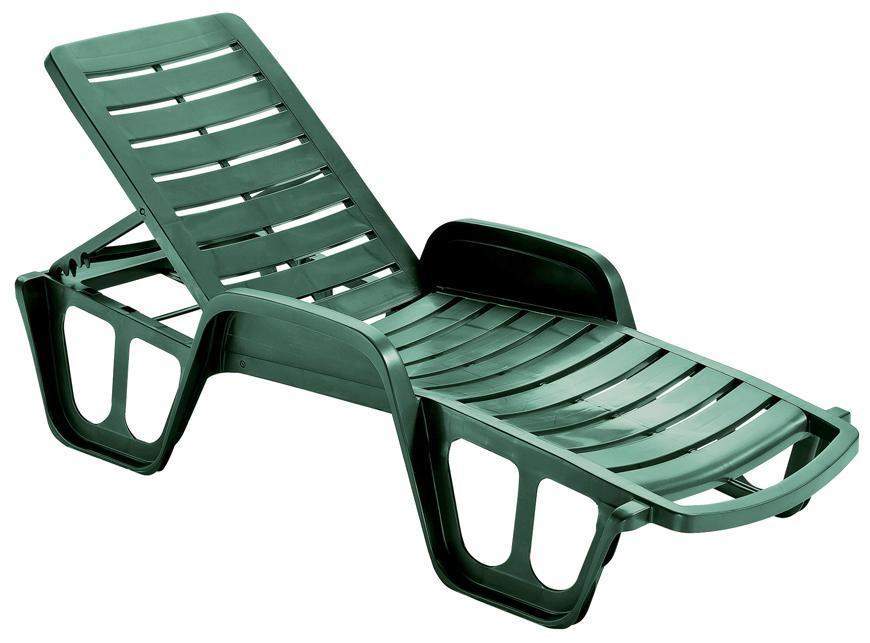 Lehátko LETTINO FISSO Green zelené, 192x100x71 cm