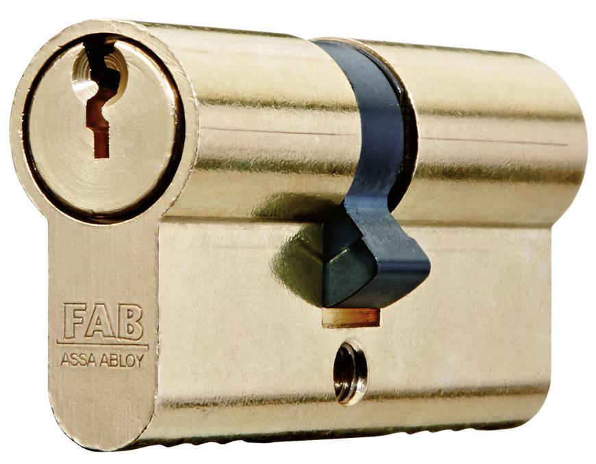Vlozka cylindrická FAB 200RSBD/40+40 , 3 kľúče, stavebná