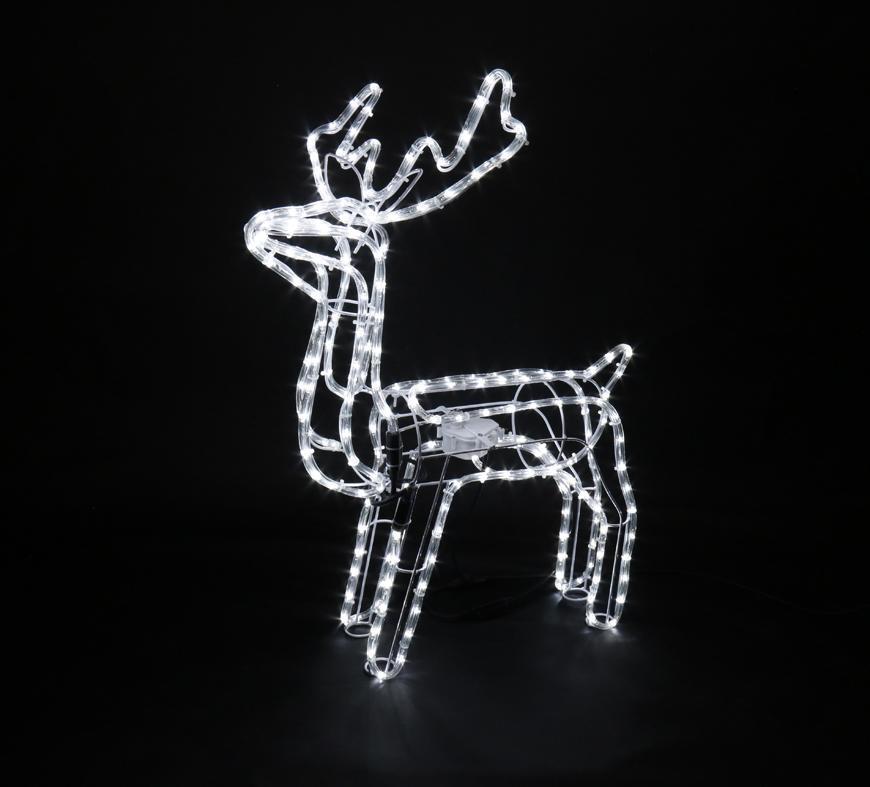 Dekorácia MagicHome Vianoce, Sob, 216 LED studená biela, s otočnou hlavou, 230V, 50 Hz, exteriér, 64