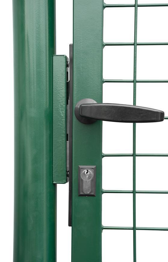 Brana METALTEC ECO 1000/1600/50x50 mm, záhradná, zelená, ZN+PVC, RAL6005