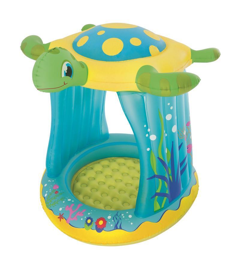 Bazénik Bestway® 52219, Turtle Totz, detský, nafukovací, so strieškou, 1,09x0,96x1,04 m