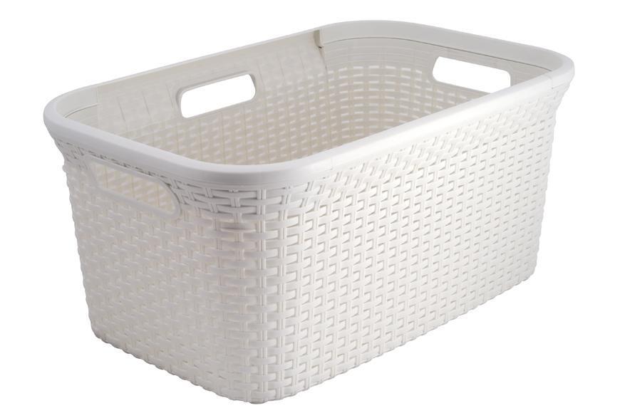 Kôš Curver® STYLE 45L, krémový, 59x27x38 cm, na bielizeň, prádlo