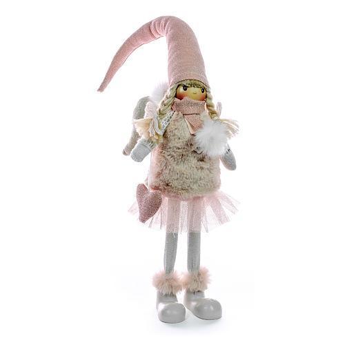 Dekoracia MagicHome, Anjel, ružový, 28 cm