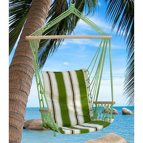 Kreslo hojdacie CRAIG, zelené, bavlna, max. 150 kg, 100x50 cm Akcia cena