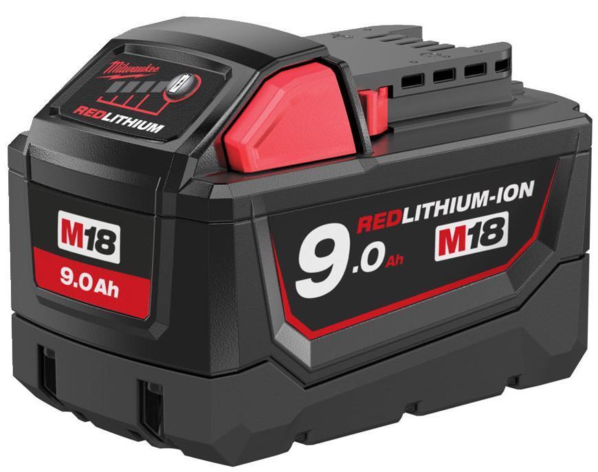 Akumulator Milwaukee M18 B9 Li-ion, 18V, 9.0 Ah