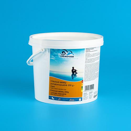 Tablety Chemoform 5603, 200 g, chlórové, pomalorozpustné, bal. 3 kg