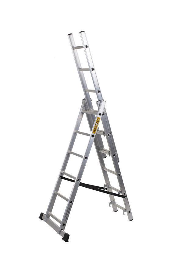 Rebrík Strend Pro DP 3x10, Alu, EN 131 max. 5.83 m, PRO