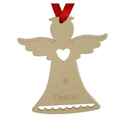 Ozdoba MagicHome Vianoce, Anjel PEACE, závesná, bal. 5 ks