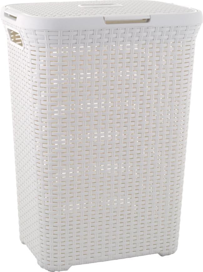 Kôš Curver® NATURAL STYLE 60L, krémový, 44x61x34 cm, na bielizeň, prádlo