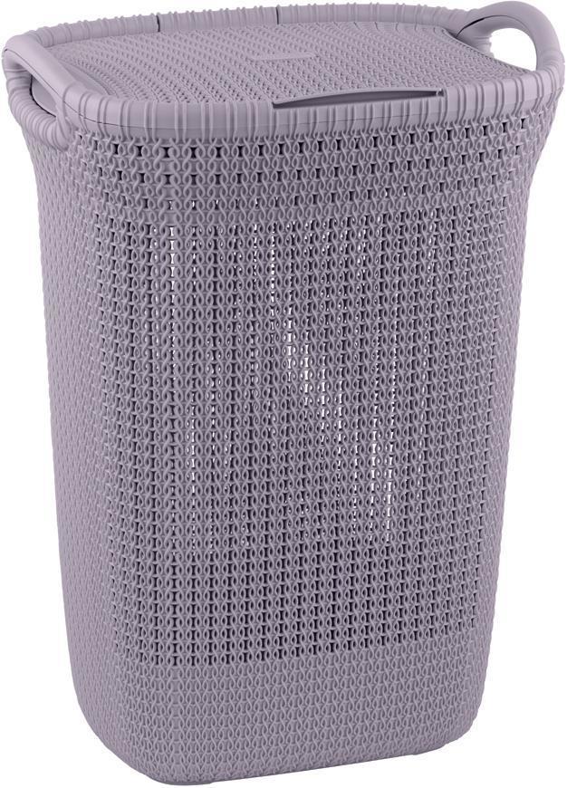 Kôš Curver® KNIT 3676 57L, svetlofialový, 45x61x34 cm, na bielizeň, prádlo