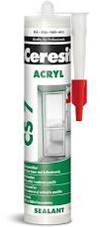 Tmel CERESIT CS7, 280 ml, Akrylátový, biely