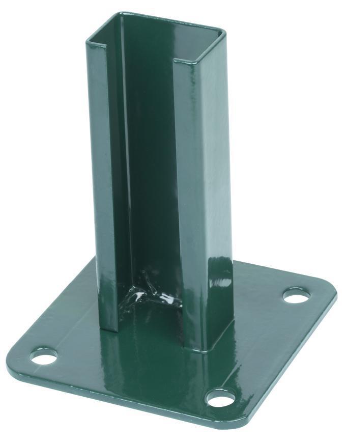 Pätka Strend Pro EUROSTANDARD, zelená, RAL6005, na ukotvenie, pre stĺpik 60x40 mm
