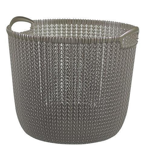 Košík Curver® KNIT 30L, hnedý, 40x39x33 cm