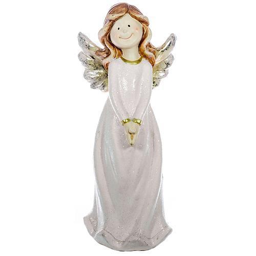 Postavička MagicHome Vianoce, Anjel, keramika, 45 cm