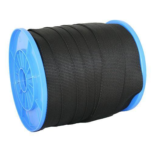 Popruh upínací Strend Pro WR50, 25 mm, čierny, 70 m, PP, max. 190 kg