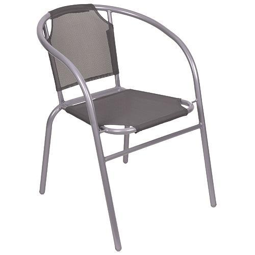 Stolička LEQ BRENDA, sivá/šedá, 60x71 cm