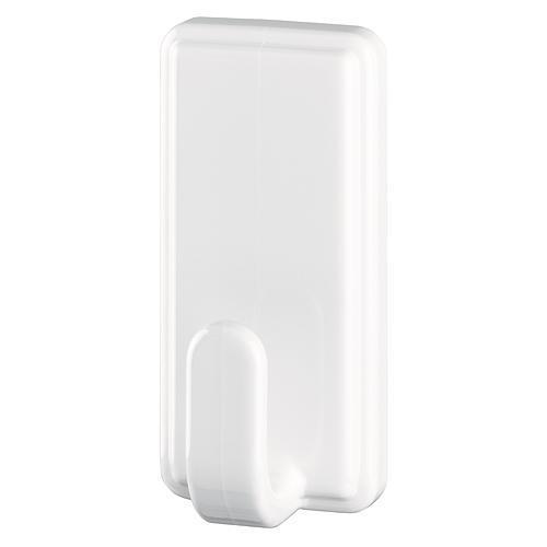 Háčik tesa® Powerstrips®, biely, hranatý, max. 2 kg