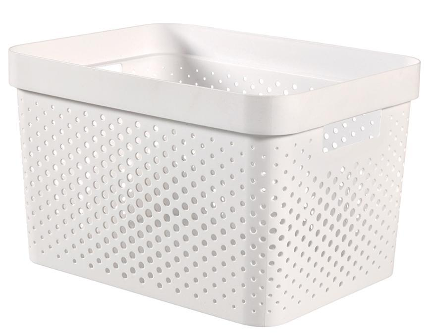 Kôš Curver® INFINITY RECYCLED 17L, biely, 36x27x22 cm