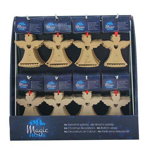 Ozdoba MagicHome Vianoce, 8 druhov, závesná, Sellbox 96 ks