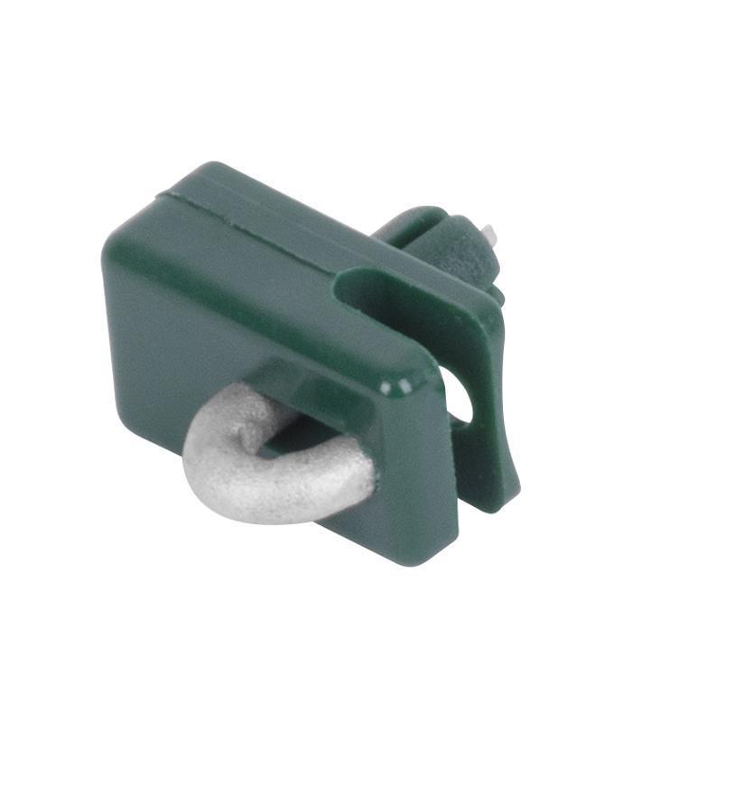 Príchytka Strend Pro METALTEC 2, vodiaca, na napínací drôt, s klinčekom, zelená, bal. 10ks