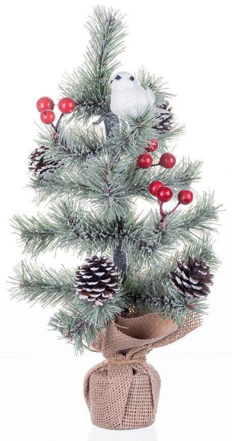 Stromček MagicHome Vianoce, ozdobený, prírodný, 36 cm