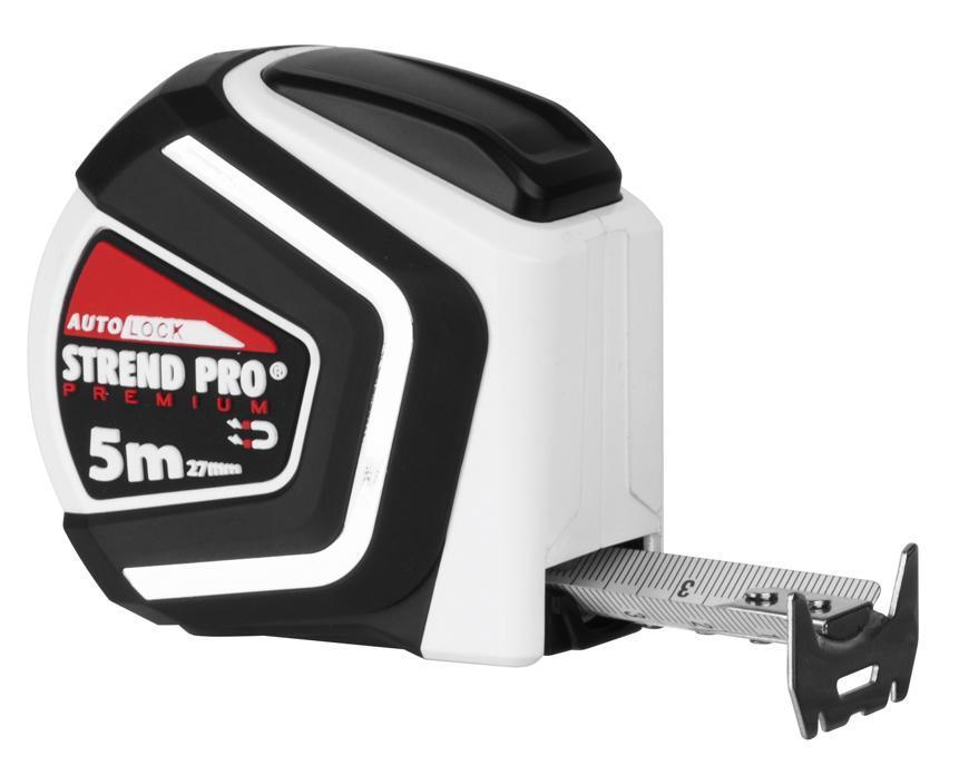 Meter STREND Pro Premium 5 m, zvinovací, Auto STOP, magnetic