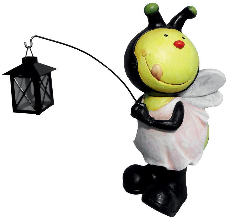 Dekoracia Gecco 8620, Včielka s lampášikom, magnesia, 25x23x49 cm