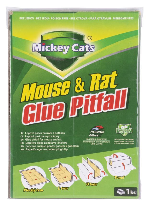 Doska Mickey Cats, 19x13 cm, lepová na myši a potkany, Poison-Free