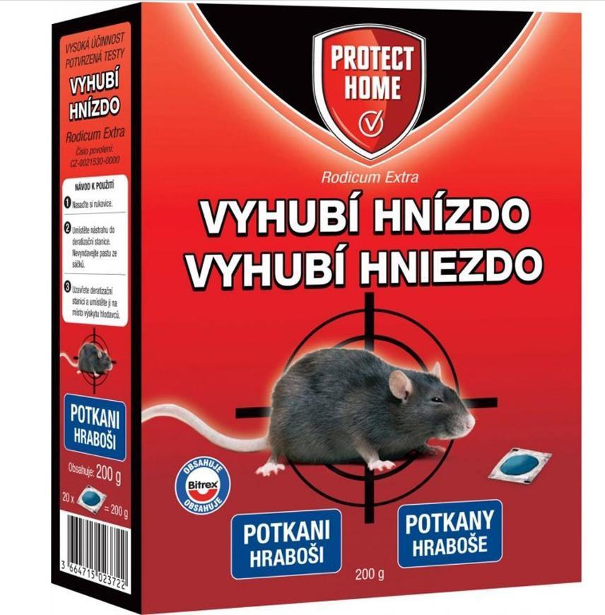 RODICUM extra, návnada, proti potkanom a hrabošom, 200 g