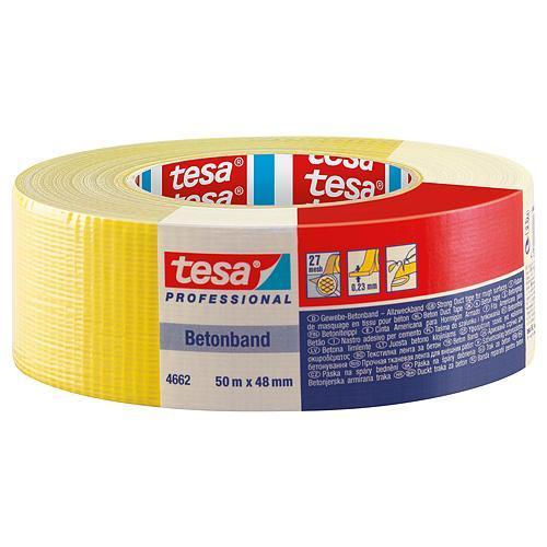 Páska tesa® PRO Betonband, textilná, žltá, 48 mm, L-50 m