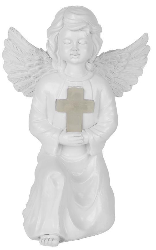 Dekoracia Gecco 6303, anjel, 15x12x22 cm, solar, 1 LED, AA