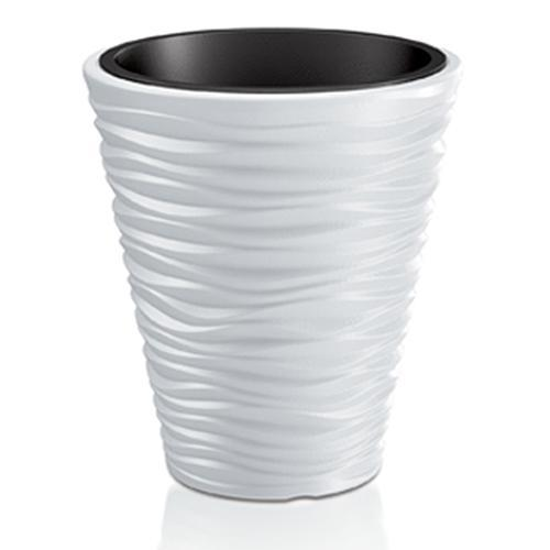 Kvetináč SAND 350, 345x385 mm, biela, vložka