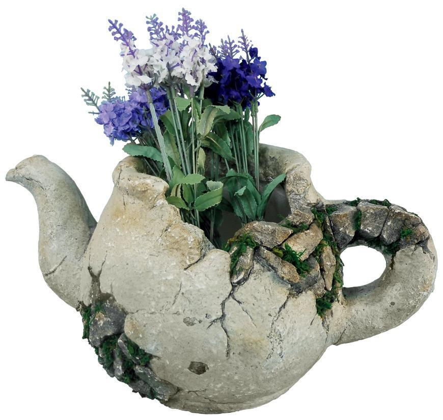 Dekoracia Gecco 2440, Džbán s kvetináčom, magnesia, 40x23x20 cm